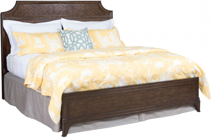 Grantham Hall Deep Coffee Queen Panel Bed