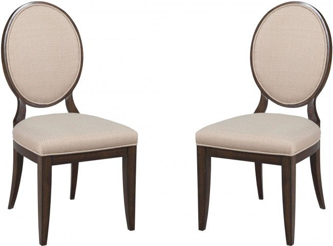 Grantham Hall Deep Coffee Decorative Upholstered Side Chair Set of 2