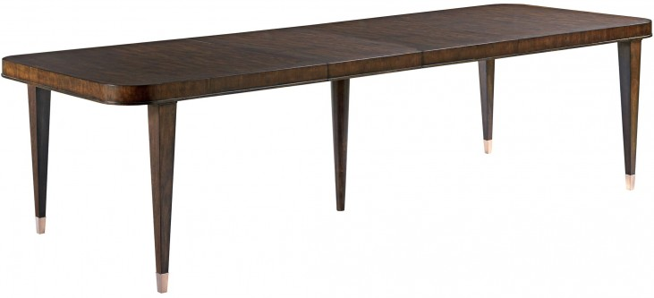 Grantham Hall Deep Coffee Extendable Rectangular Dining Table