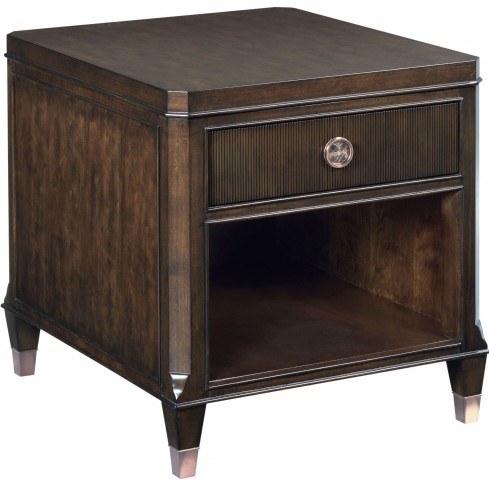 Grantham Hall Deep Coffee Drawer End Table
