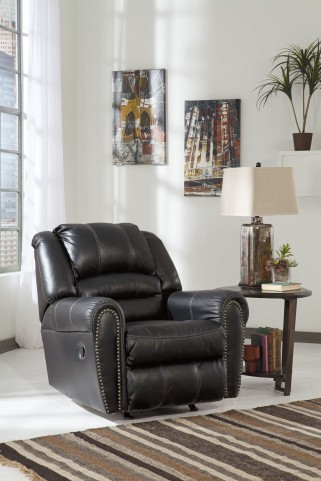 Manzanola Black Rocker Recliner