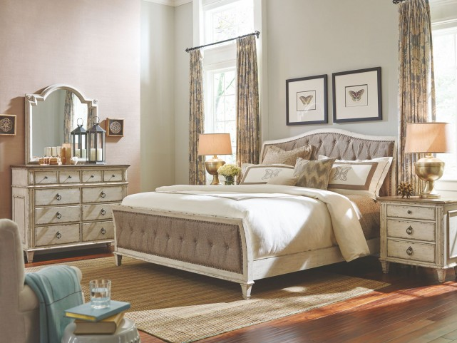 Southbury Parchment Upholstered Bedroom Set