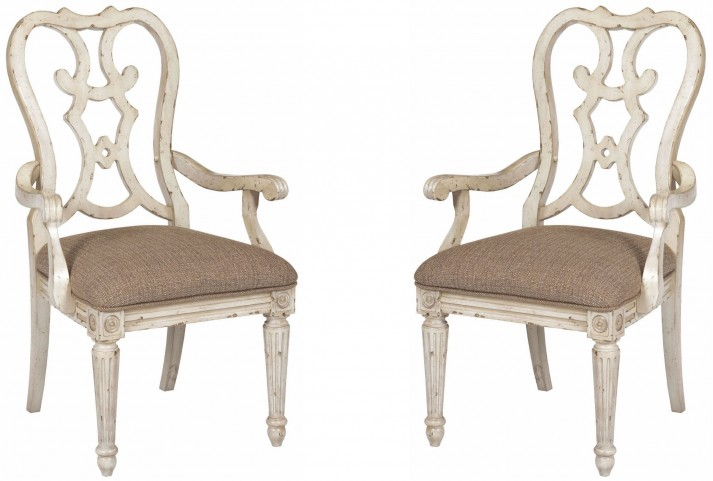 Southbury Parchment Cortona Arm Chair Set of 2