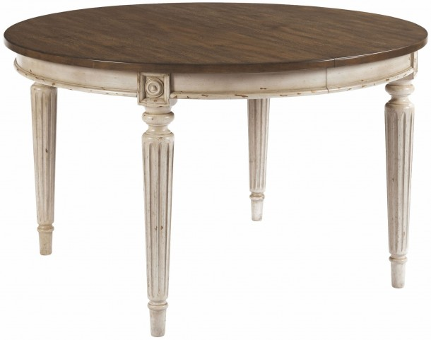 Southbury Fossil and Parchment Extendable Round Dining Table