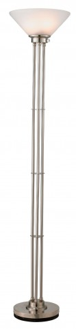 Senator Satin Steel Floor Lamp
