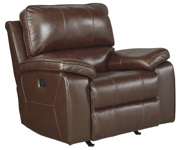 Transister Coffee Power Rocker Recliner With Adjustable Headrest