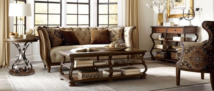 Ava Adele Tufted Back Living Room Set