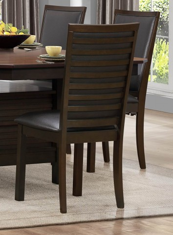 Corliss Dark Brown Side Chair Set of 2