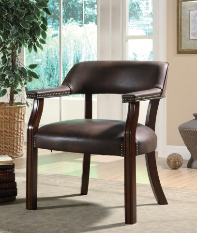 Brown Vinyl Office Guest Chair 513BRN