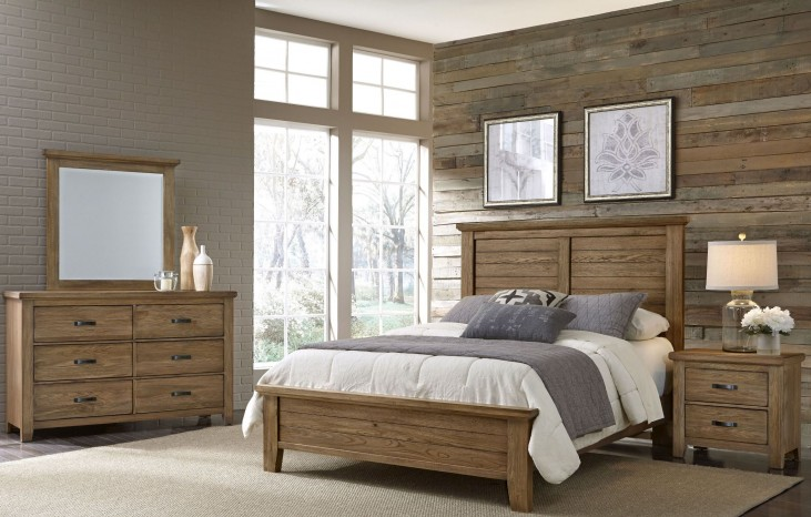 Gramercy Park Natural Plank Bedroom Set