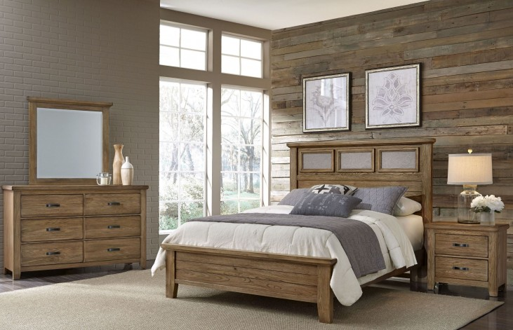Gramercy Park Natural Tile Bedroom Set