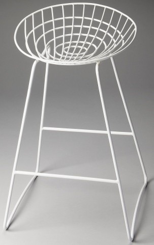 Ludwig Loft White Bar Stool
