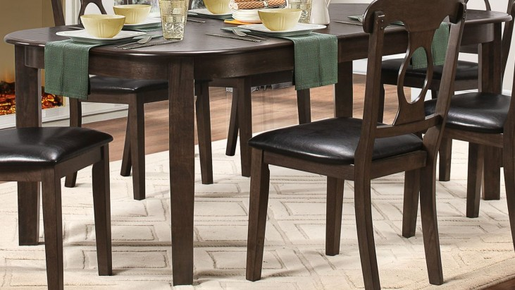 Lemoore Weathered brown Extendable Dining Table