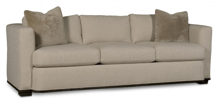Wythe Coffee Bean Track Arm 3 Seat Sofa