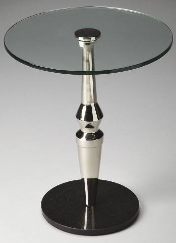 Salinger Loft Nickel Accent Table