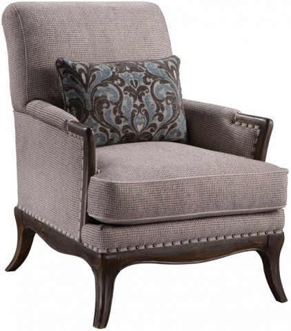 St Germain Siene Pewter Upholstered Chair