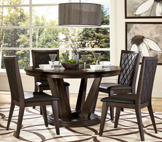 Villa Vista Dark Walnut Round Dining Room Set