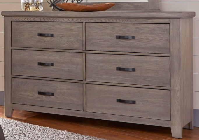 Cassel Park Weathered Gray 6 Drawer Storage Dresser