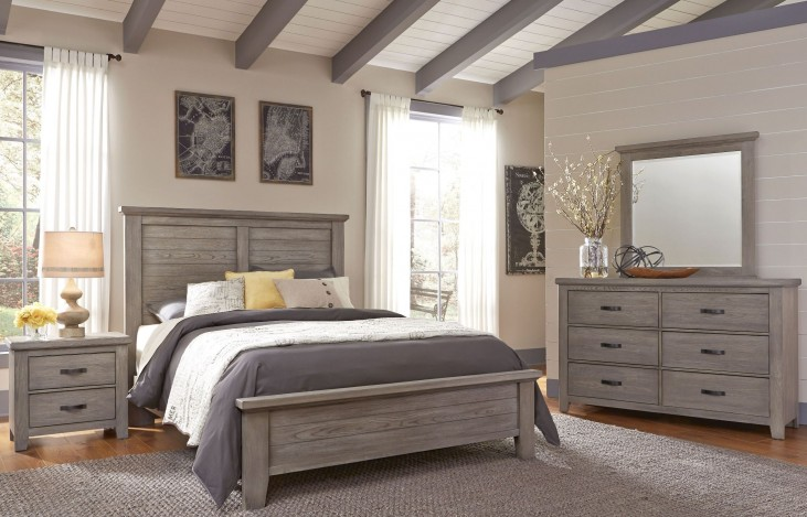 Gramercy Park Weathered Gray Plank Bedroom Set