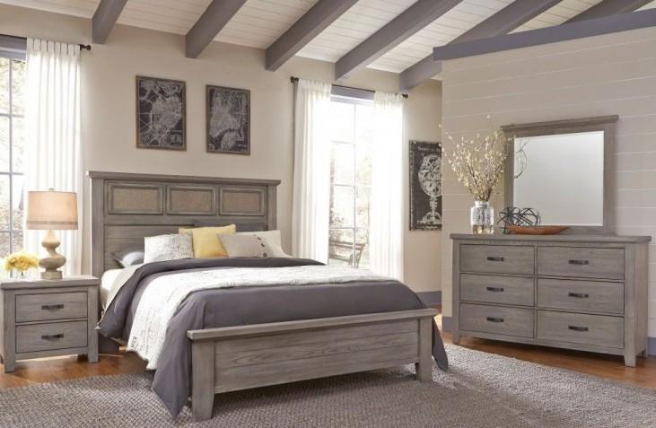 Cassel Park Weathered Gray Tile Bedroom Set