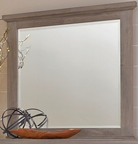 Gramercy Park Weathered Gray Landscape Mirror