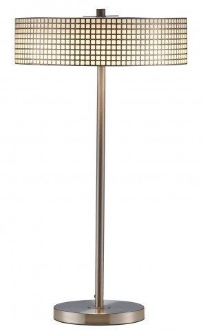 Wilshire Satin Steel Led Table Lamp