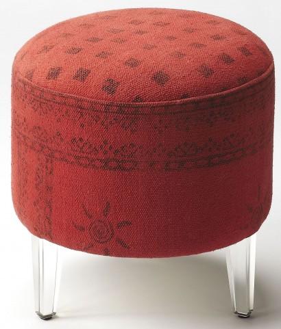 Borrego Red Pouffe Ottoman