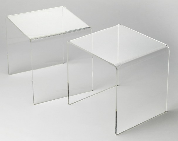 Butler Loft Crystal Clear Acrylic Bunching Table