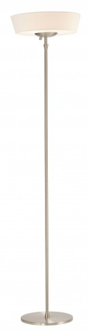 Harper Steel And White Shade Floor Lamp
