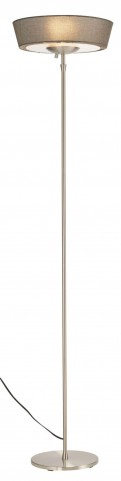Harper Steel And Gray Shade Floor Lamp