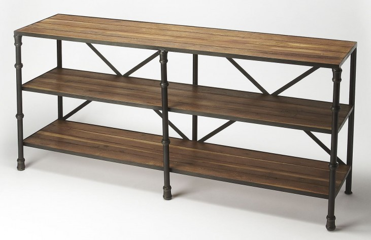 Industrial Chic Auvergne Industrial Chic Display Console Table