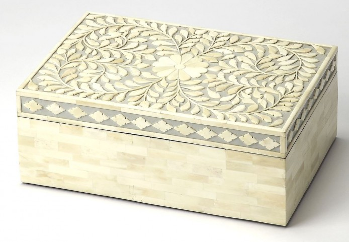 Hors D'Oeuvres Gray Bone Inlay Storage Box