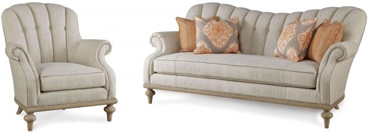 Collection One Upholstered Brewster Channel Back Living Room Set