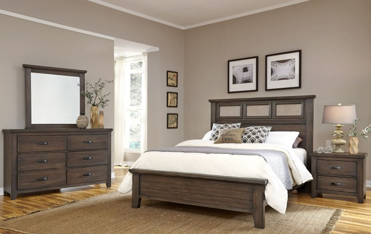 Gramercy Park Rich Cocoa Tile Bedroom Set