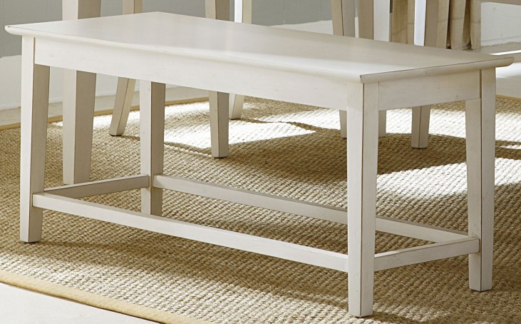 Summerhill Rubbed Linen White Bench