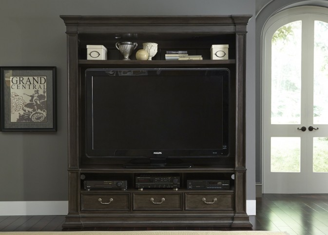Mendenhall II Rustic Gray Entertainment Center