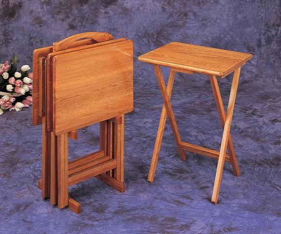 Oak Tray Tables 5199