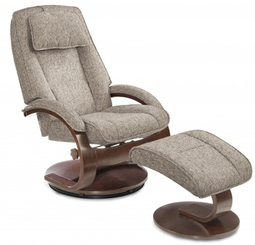 Oslo Teatro Charcoal Fabric Recliner
