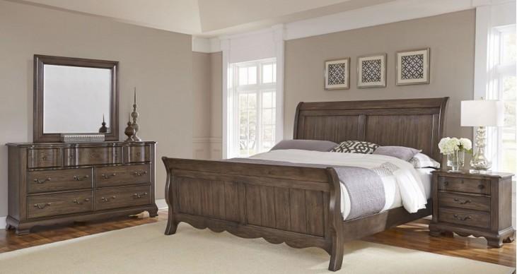 Villa Sophia Expresso Brown Sleigh Bedroom Set