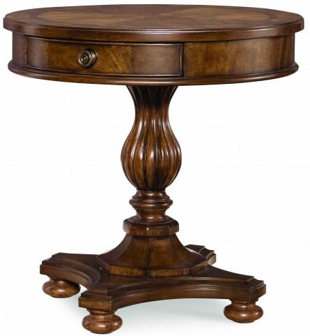 Barrington Farm Classic 1 Drawer Round Lamp Table