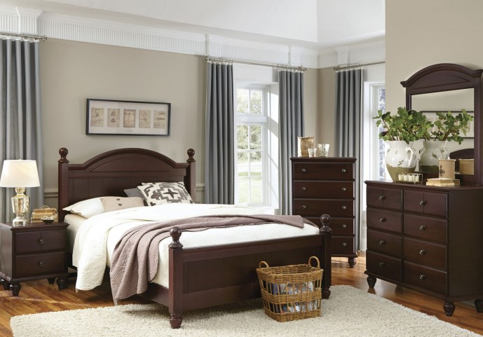 Carolina Craftsman Espresso Panel Bedroom Set