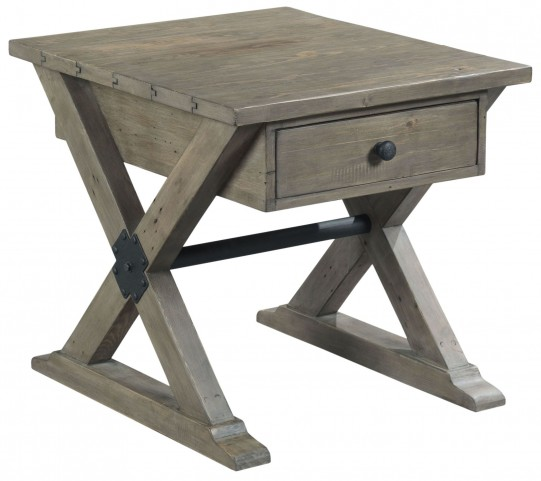 Reclamation Place Sundried Natural Rectangular Drawer End Table
