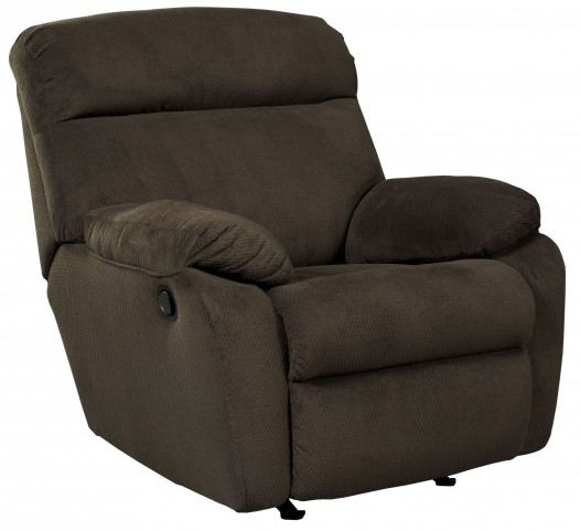 Demarion Chocolate Rocker Recliner