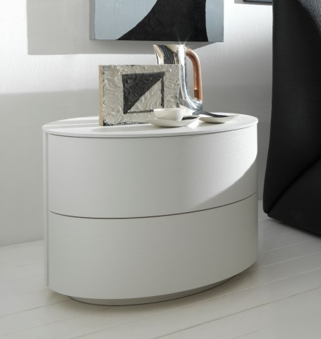 Moon White 2 Drawer Nightstand