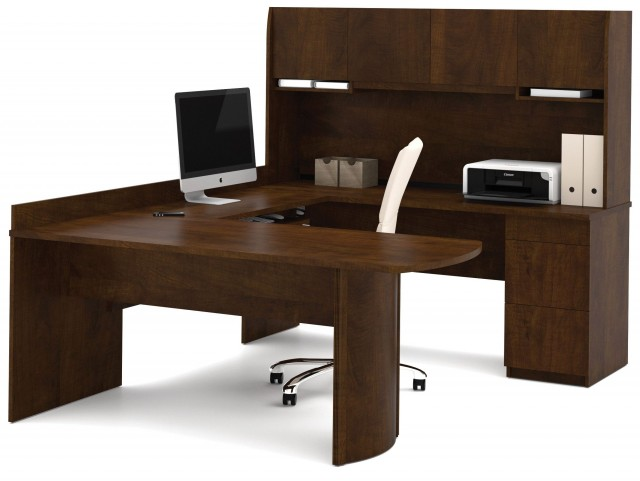 Executive Chocolate U-Shaped Workstation