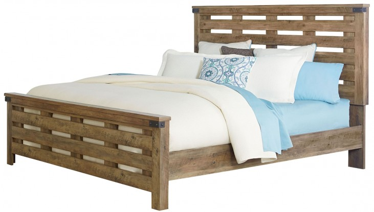 Montana Rustic Buckskin King Panel Bed