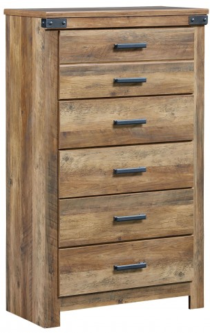 Montana Rustic Buckskin 5 Drawer Chest