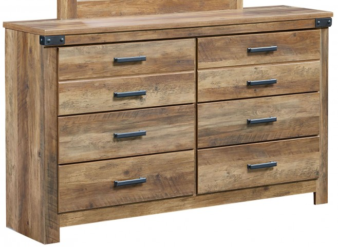 Montana Rustic Buckskin 6 Drawer Dresser