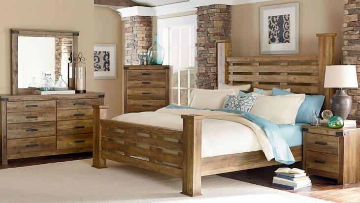 Montana Rustic Buckskin Poster Bedroom Set