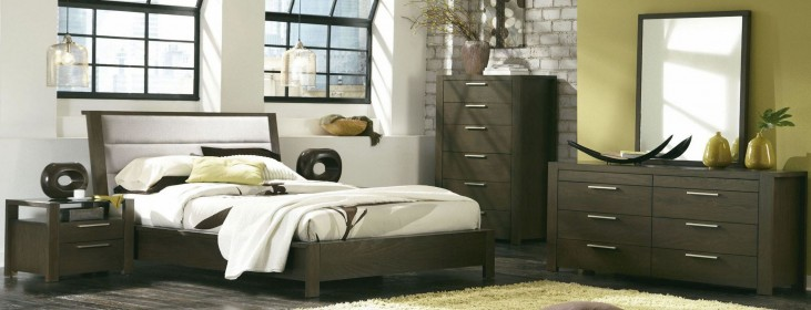Hudson Upholstered Platform Bedroom Set